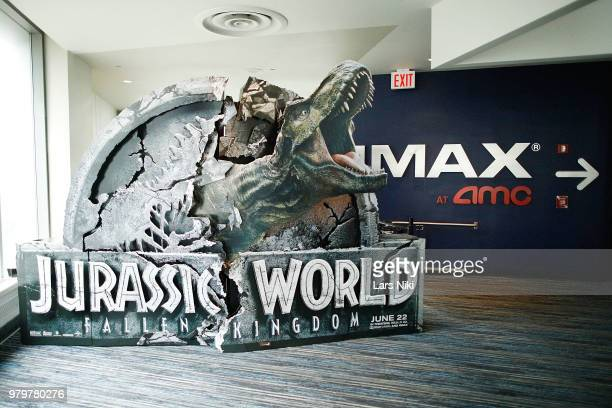 General atmosphere during the IMAX exclusive experience for Jurassic World Fallen Kingdom at AMC Loews Lincoln Square IMAX on June 20 2018 in New...