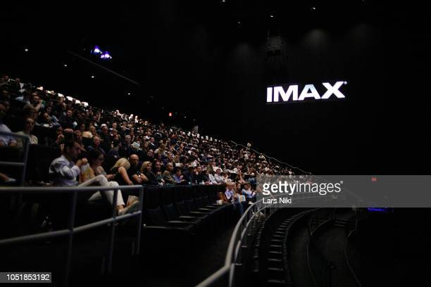 General atmosphere during the IMAX private screening for the movie 'First Man' at the IMAX AMC Theater on October 10 2018 in New York City