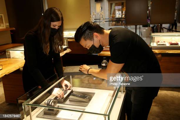 General atmosphere during the in-store shopping event benefiting Gold House hosted by Nathan Chen at David Yurman on September 25, 2021 in Costa...