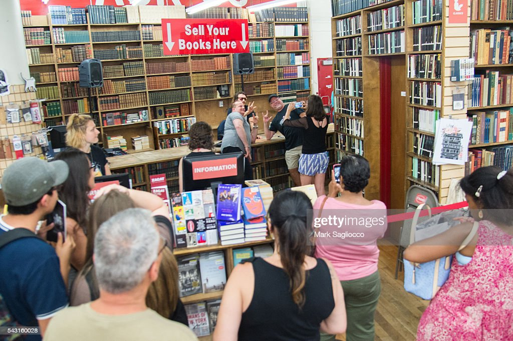 General atmosphere during the James Franco promotion of his new Chapbook 'Straight James/Gay James' at the Strand Bookstore on June 26, 2016 in New York City.