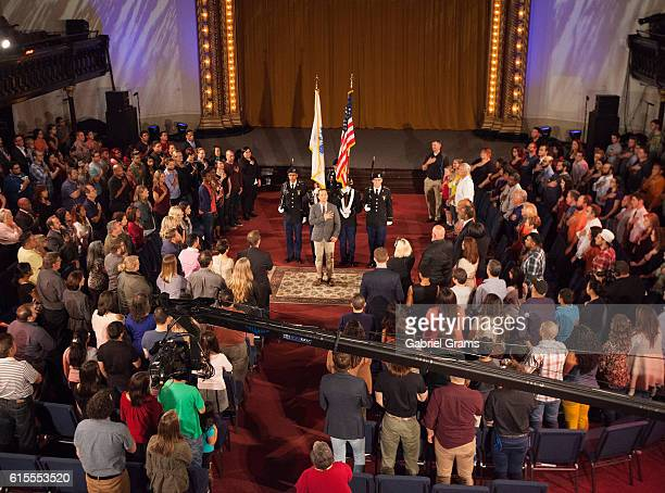 """General atmosphere during the Kirk Cameron """" Revive Us"""" event at Harvest Cathedral on October 18, 2016 in Chicago City."""