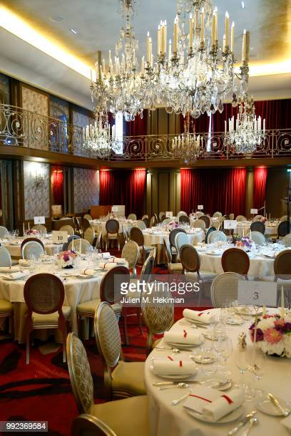 General atmosphere during the Liu Lisi Charity Gala Dinner with Unicef at Hotel Plaza Athenee on July 5 2018 in Paris France
