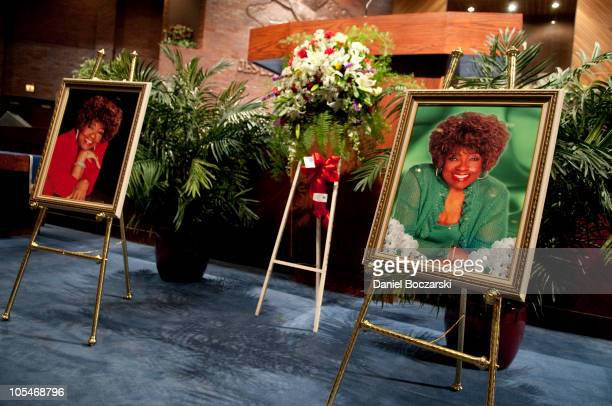 General atmosphere during the memorial service for Albertina Walker at the Apostolic Church of God on October 14 2010 in Chicago Illinois