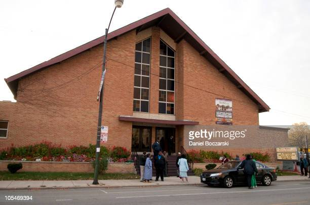 General atmosphere during the memorial service for Albertina Walker at the West Point Missionary Baptist Church at the Apostolic Church of God on...