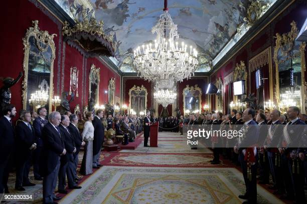 General atmosphere during the Pascua Militar ceremony at the Royal Palace on January 6, 2018 in Madrid, Spain.