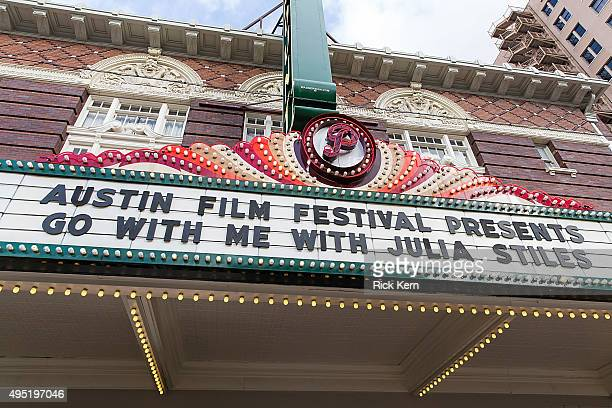 General atmosphere during the premiere of 'Go With Me' during the Austin Film Festival at The Paramount Theatre on October 31 2015 in Austin Texas