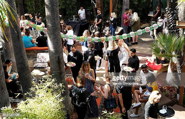 General Atmosphere during the Villoid garden tea party hosted by Alexa Chung at the Hollywood Roosevelt Hotel on April 21 2016 in Hollywood California
