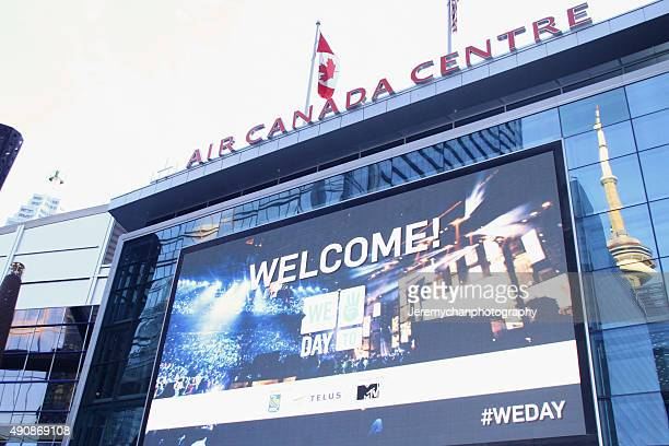 General atmosphere during WE Day Toronto at the Air Canada Centre on October 1 2015 in Toronto Canada