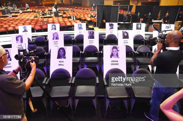 General atmosphere Inside Radio City Music Hall for 2018 MTV Video Music Awards Press Junket on August 17 2018 in New York City