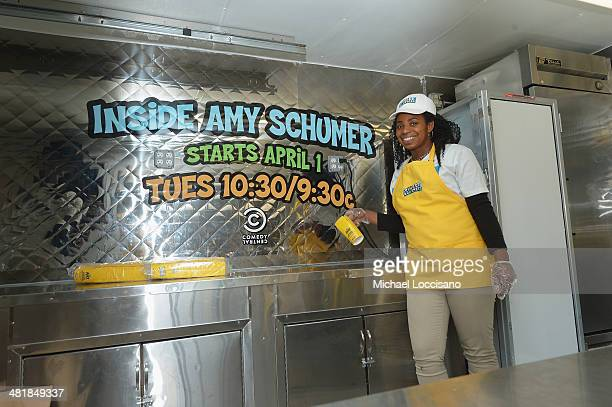 General atmosphere inside the Finger Blaster food truck promoting the Finger Blaster sketch from season 2 of Comedy Central's Inside Amy Schumer on...