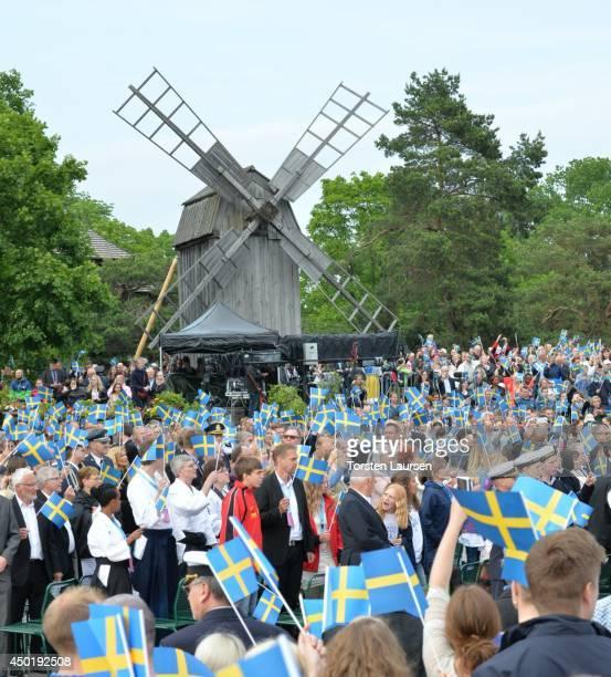 General atmosphere National Day Celebrations on June 6 2014 in Stockholm Sweden
