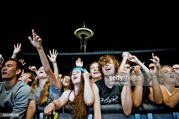 General Atmosphere of day three of the Bumbershoot Music and Arts Festival on September 1 2014 in Seattle Washington