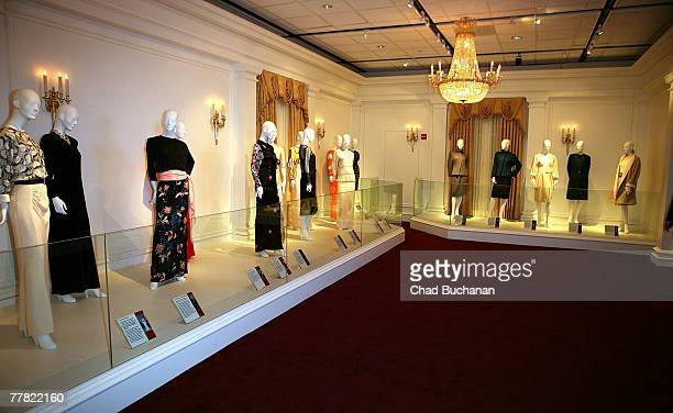 General atmosphere of dresses from the opening of the exhibit Nancy Reagan A First Lady's Style at the Ronald Regan Presidential Library on November...