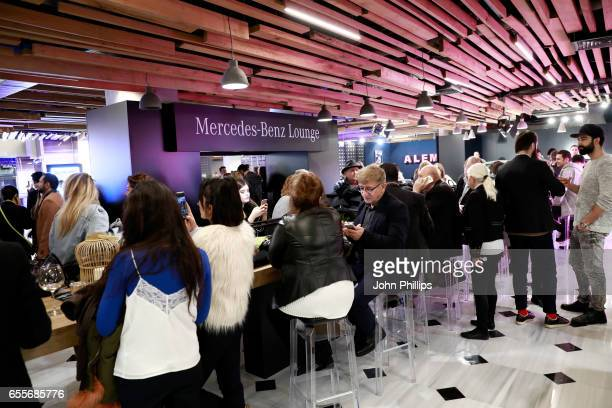 General atmosphere of MercedesBenz lounge during MercedesBenz Istanbul Fashion Week March 2017 at Grand Pera on March 20 2017 in Istanbul Turkey