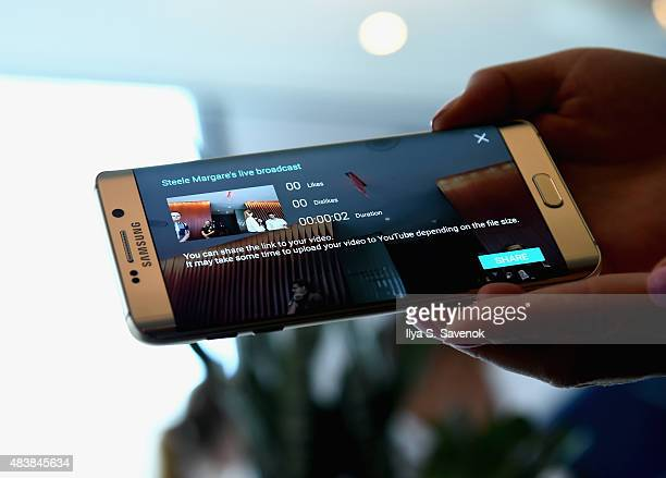 General atmosphere of Samsung Unpacked 2015 featuring the Galaxy S6 edge with live broadcast on August 13 2015 in New York City