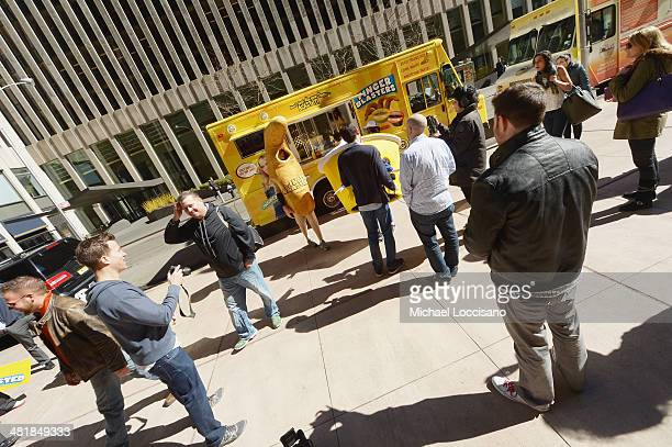 General atmosphere of the Finger Blaster food truck promoting the Finger Blaster sketch from season 2 of Comedy Central's Inside Amy Schumer on April...