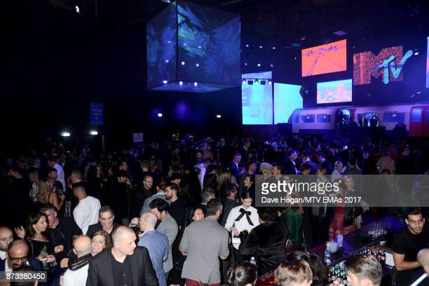 A general atmosphere of the MTV EMAs 2017 after show party at Fountain Studios on November 12 2017 in London England