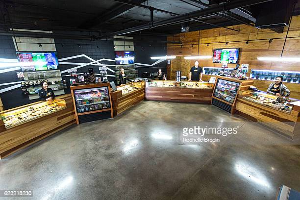 General atmosphere of the New Amsterdam Naturals, Los Angeles premiere Cannabis collective on November 11, 2016 in Los Angeles, California.