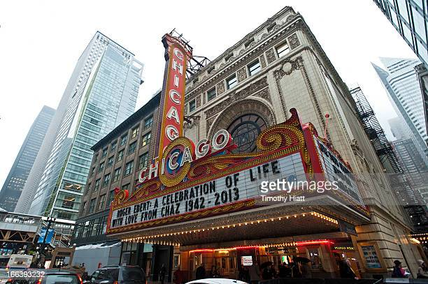 General atmosphere of the Roger Ebert Memorial Tribute at Chicago Theatre on April 11, 2013 in Chicago, Illinois.