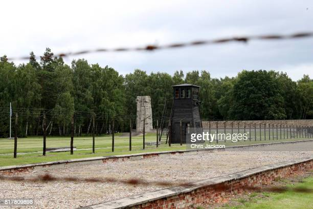 General atmosphere of the Stutthof concentration camp during an official visit of the Duke and Duchess of Cambridge to Poland and Germany on July 18...