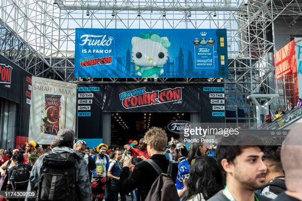General atmosphere on convention floor during Comic Con 2019 at The Jacob K Javits Convention Center in New York City The New York Comic Con is an...