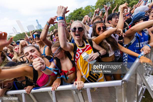 General atmosphere on day one of Lollapalooza at Grant Park on July 29, 2021 in Chicago, Illinois.
