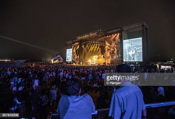 General Atmosphere on the Hang Ten Deck at the Sunset Cliffs Stage during the 2016 KAABOO Del Mar at the Del Mar Fairgrounds on September 18 2016 in...