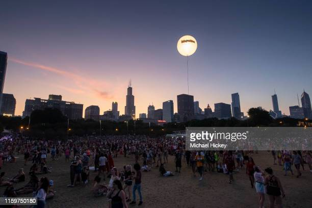 General atmosphere seen on day four of Lollapalooza at Grant Park on August 4 2019 in Chicago Illinois