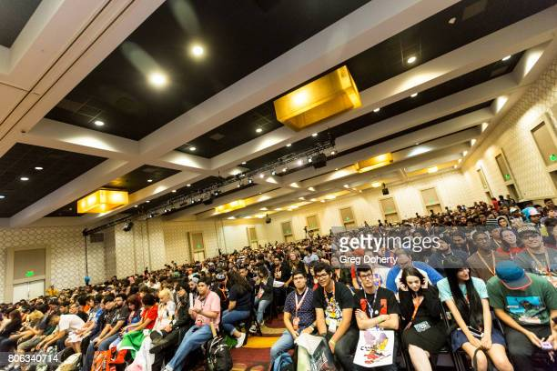 General atmosphere shot at the FLCL3 Panel discussion at the Anime Expo 2017 at Los Angeles Convention Center on July 2 2017 in Los Angeles California
