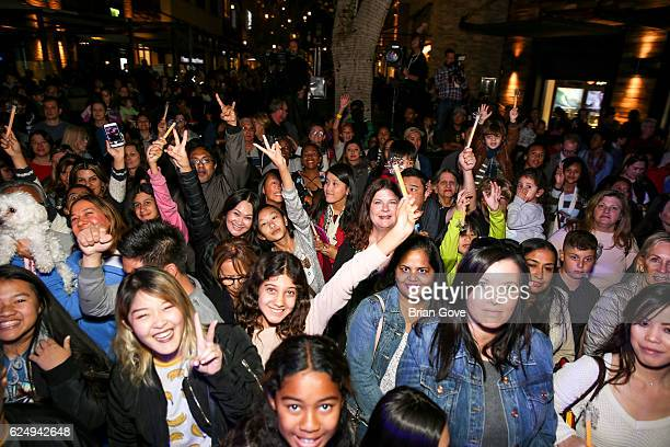 General atmosphere shot at the Holiday Tree Lighting at The Village at Westfield Topanga on November 19 2016 in Woodland Hills California
