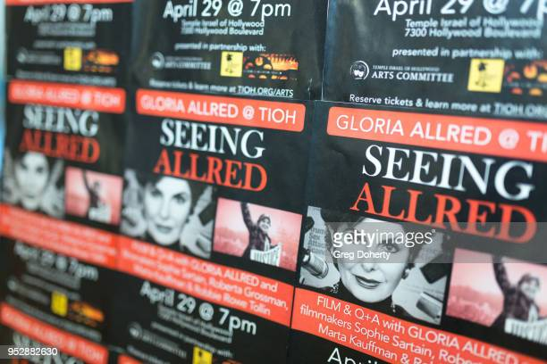 General atmosphere shot at the screening of 'Seeing Allred' at the 2018 Los Angeles Jewish Film Festival on April 29 2018 in Hollywood California