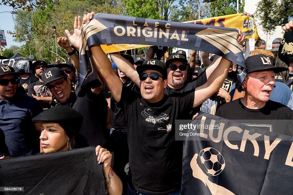 Los Angeles Football Club Stadium Groundbreaking Ceremony : News Photo