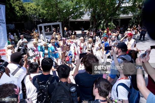 General atmosphere shots at Anime Expo 2017 at Los Angeles Convention Center on July 2 2017 in Los Angeles California
