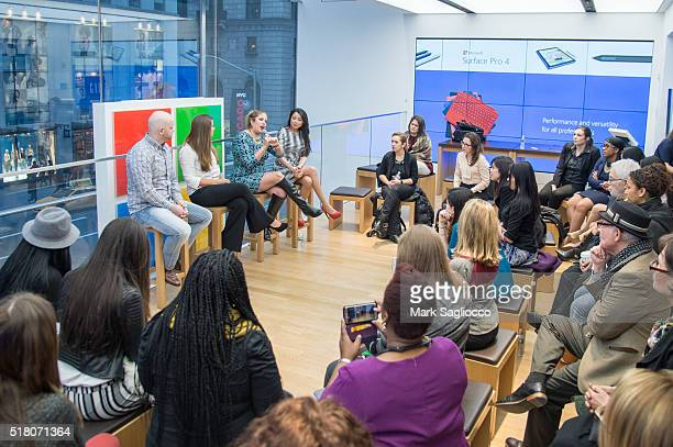 General Atmosphere view of the Women's History Month Mixer With Bravo's Rachel Grant at Microsoft Store on March 29 2016 in New York City