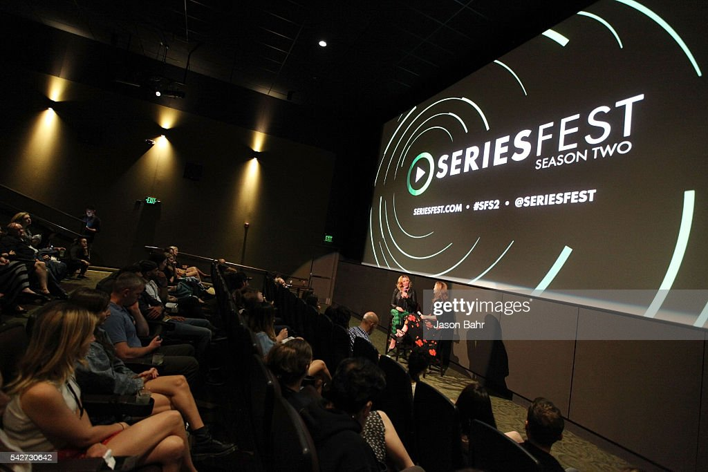 General atmosphere while Kim Cattrall is interviewed by Krista Smith at Sie FilmCenter during SeriesFest: Season Two on June 23, 2016 in Denver, Colorado.