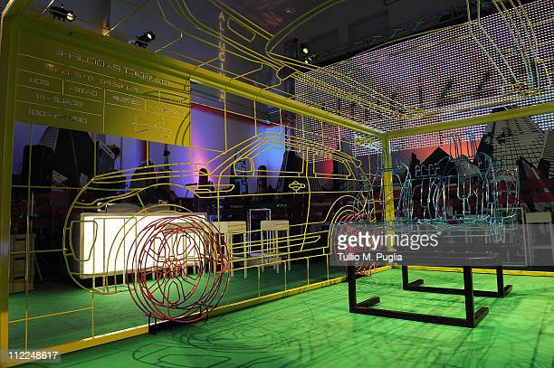 95751a5b1f1 General atmospherea at Benedict Radcliffe wireframe design installation  inspired by Range Rover Evoque at the Opificio