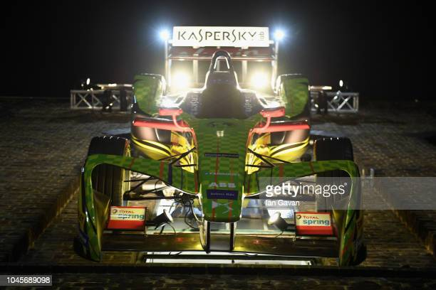 General atomosphere at the unveiling of the first-ever Formula art car by Kaspersky Lab and street artist D*Face at Moniker Art Fair in East London...