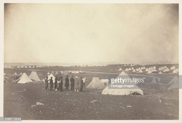 General Bosquet's Quarters looking toward Mackenzie Farm, 1855. A work made of salted paper print, from the album 'photographic pictures of the seat...
