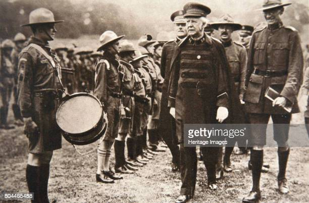 General Bramwell Booth inspecting boy scouts London 1925 General Bramwell Booth inspecting scouts on the football field at the Crystal Palace during...