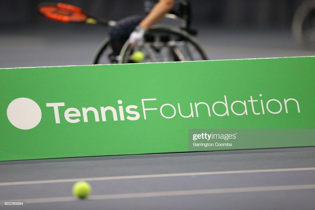 2018 Bolton Indoor Wheelchair Tennis Tournament : News Photo