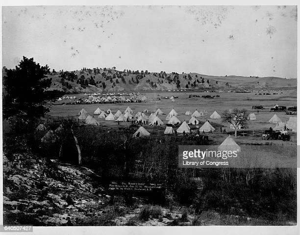 General Brook's Camp near Pine Ridge Agency South Dakota January 17 1891 | Location Pine Ridge Agency South Dakota USA