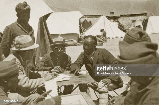 General Bruce Paul Gyalzen and others at Kampa Dzong Tibet China Mount Everest Expedition 1922