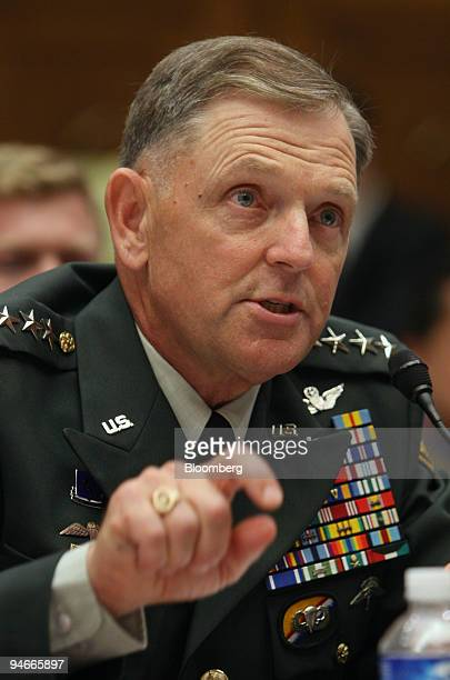 General Bryan D Brown former commander of Special Operations testifies about the friendly fire death of Corporal Patrick Tillman before the House...