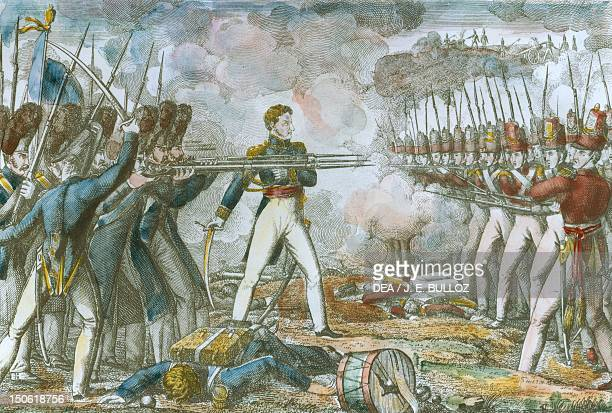 General Cambronne in front of the British during the Battle of Waterloo June 18 1815 Napoleonic Wars Belgium 19th century