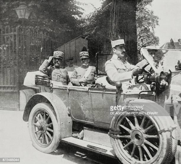 General Carlo Porro and Colonel Breganze July 10 headquarters of Joffre France World War I from L'Illustrazione Italiana Year XLII No 30 July 25 1915