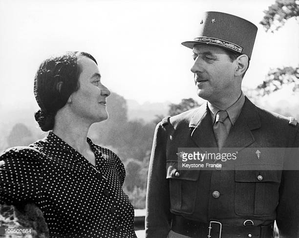 General Charles De Gaulle And His Wife Yvonne In London In 1942