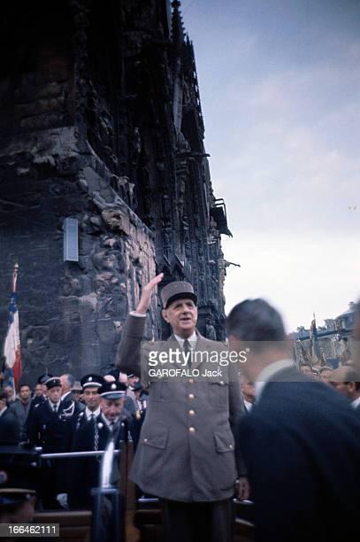 General Charles De Gaulle In La Marne La Marne Septembre 1964 Commémoration du cinquantenaire des batailles de la Marne lors de la première guerre...