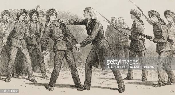 General Charles George Gordon approached the mutinous corporal dragged him out of the rank and ordered two of the infantry standing by to shoot him...