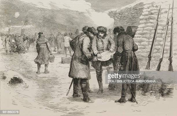 General Charles George Gordon in the trenches before Sebastopol Crimean War illustration from the magazine The Graphic volume XXIX n 745 March 8 1884