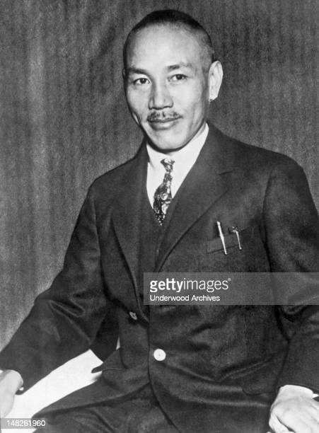 General Chiang KaiShek President of the Nationalist Government of China has issued a statement urging the Chinese people to remain calm in the face...